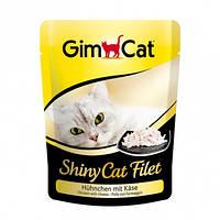 Консервы GimCat ShinyCat Filet Chicken & Cheese для кошек с курицей и сыром, 70 г