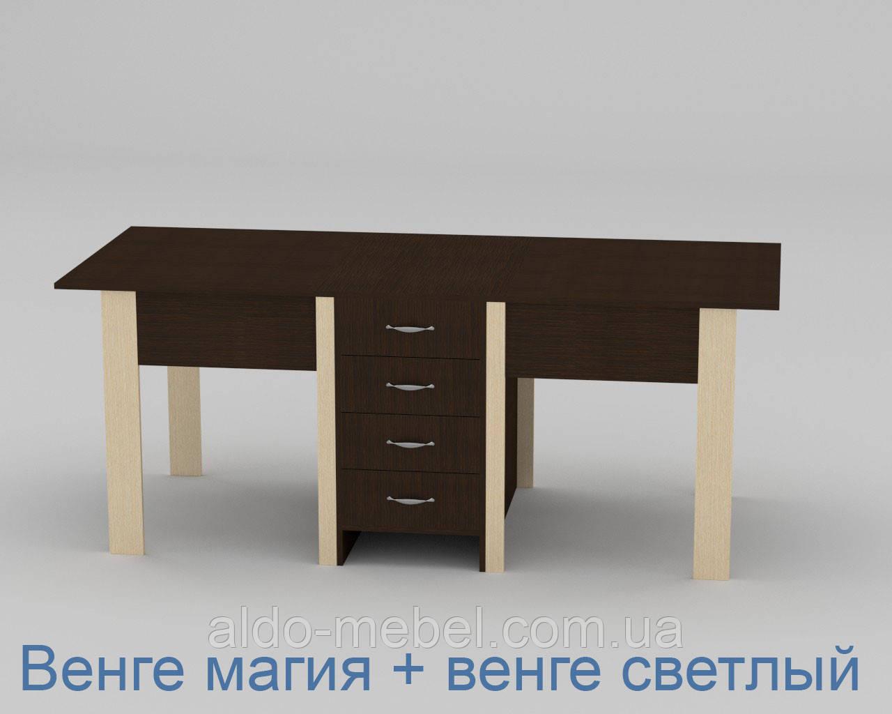 Стол книжка - 3 Габариты Ш - 800 мм; В - 750 мм; Г - 532 мм (Общая Ш - 1900 мм) (Компанит)