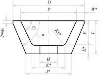 Круг абразивный чашечный конический  25А ЧК 80х35х20 25СМ (F60, K, L)