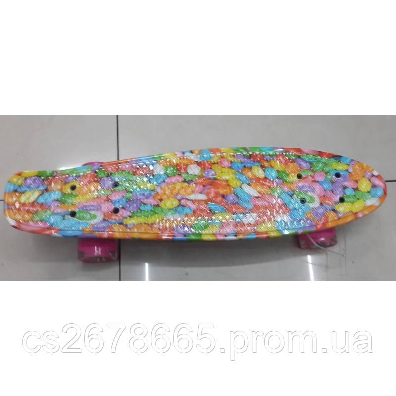 Скейт SC17041 полиуретановые колеса с подсветкой
