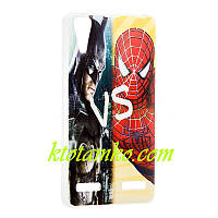 Чехол Foto Silicon iPhone 5/5S Batman vs Spiderman
