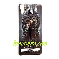 Чехол Foto Silicon iPhone 5/5S Game of Thrones Stark