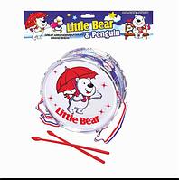Детская игрушка барабан, в кульке, 23 см,1091