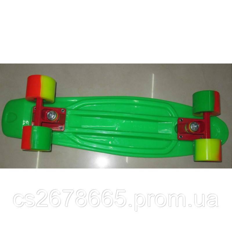 Скейт 2406 металлическое крепление, полиуретановые колеса