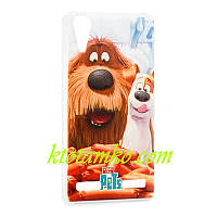 Чехол Foto Silicon iPhone 5/5S Pets Max & Duke