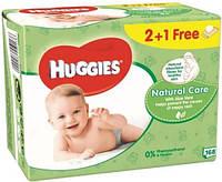 Салфетки влажные Huggies Natural Care 2+1 (56 х 3 шт)