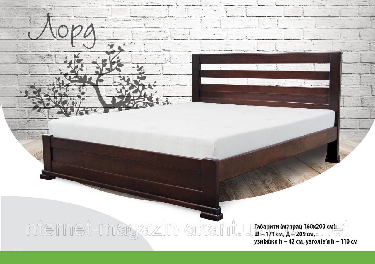 Ліжко дерев'яне букове Лорд