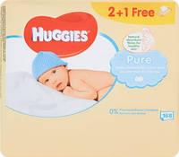 Салфетки влажные Huggies Ultra Comfort Pure 2+1 (56 х 3 шт)