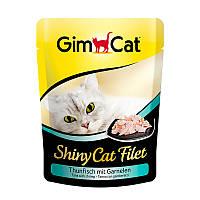 Консервы GimCat ShinyCat Filet Tuna & Shrimp для кошек с тунцом и креветками, 70 г