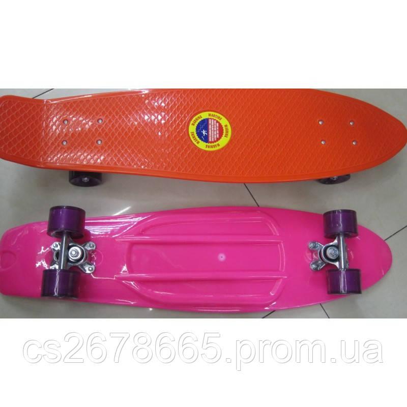 Скейт SC17027 металлическое крепление, полиуретановые колеса