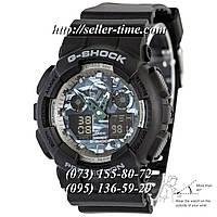 Часы Casio G-Shock AAA GA 100 Black Gray Military Autolight