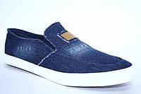 Синие джинсовые мокасины