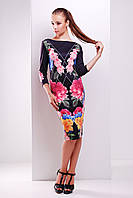 Трикотажное женское платье с принтом Лоя 1Ф Glem 44-48 размеры