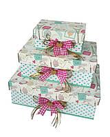 Прямоугольная подарочная коробка ручной работы с принтом я люблю Париж