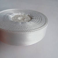 Лента атласная белая 2 см