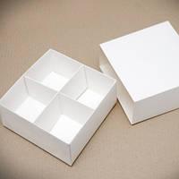 Коробка 16х16х5 см. (без окошка белая)