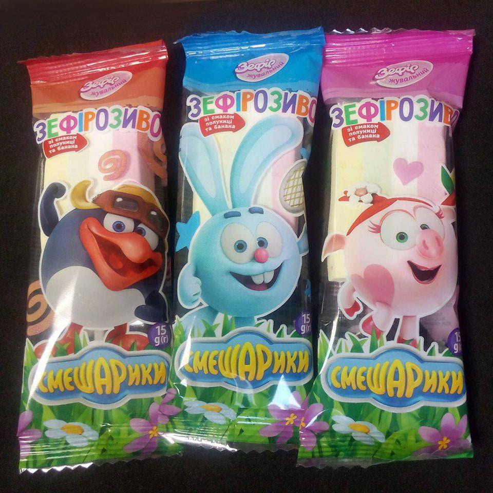 """Зефир """"Мороженое"""" 15г в ассортименте.(код 05744)"""