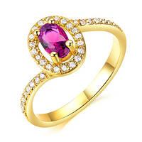 Женское кольцо с позолотой Полли 181195 (17.3 18.2 размеры в наличии)