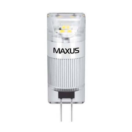 Лампа MAXUS G4 1W 3000K 12V AC/DC CR, фото 2