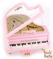 Музыкальная шкатулка рояль розовая