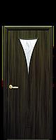 Дверное полотно: Бора. Исполнение: со стеклом Сатин рисунком Р1.