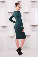 Платье-чулок Агата р.42-48 зеленый