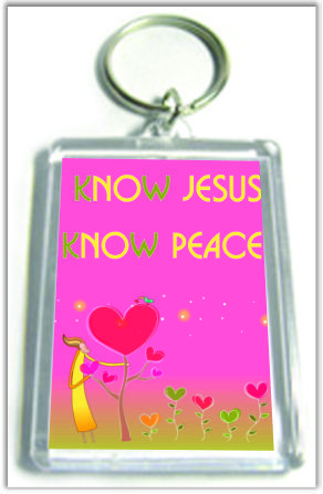 "Брелок  ""Know Jesus, know peace""  №55"
