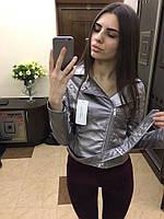 Женская куртка ZARA из экокожи