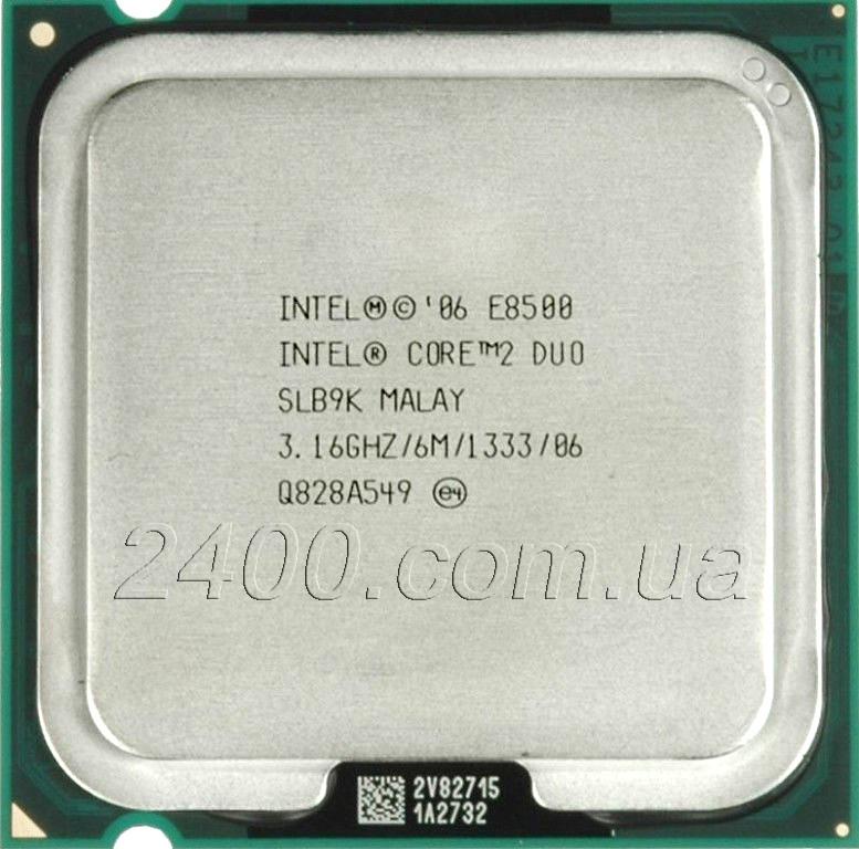 Процессор Intel Core 2 Duo E8500 3.16GHz/6MB/1333MHz LGA775 (Socket 775) - Комплектуючі до комп'ютерної техніки 2400.com.ua в Киеве
