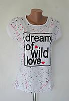 "Футболка женская ""Dream of wild love"" - белый"