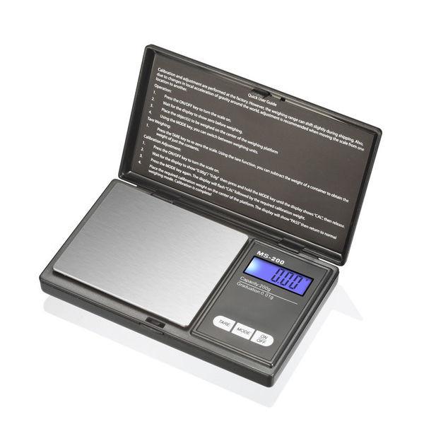 Карманные ювелирные весы 0.01- 200 г с сенсорным управлением 6256