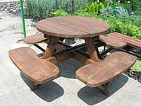 Набор садовой мебели обеденный Камелот №5 (ф1,8-2м)