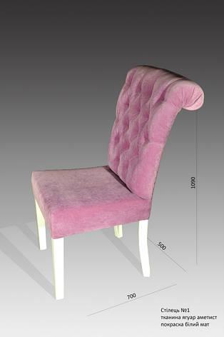 Стильный стул №1. Цвет в ассортименте. (50х70х109 см), фото 2