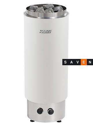 Электрическая каменка Harvia Cilindro PC 90VF белая для сауны и бани, фото 2