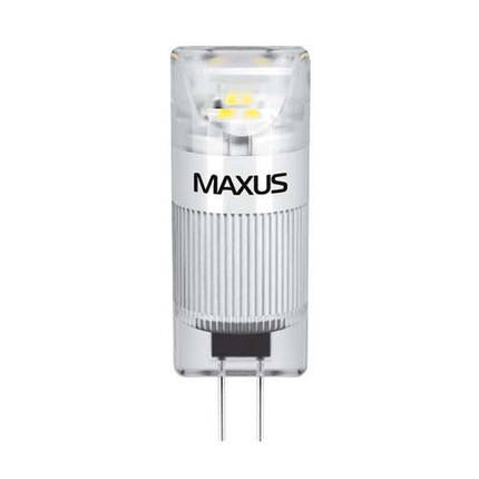 Лампа MAXUS G4 1W 5000K 12V AC/DC CR, фото 2