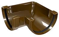 Угол водосточного желоба Regenau D125 (коричневый)