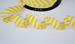 Косая бейка из хлопка с жёлтой полоской 5 мм , фото 3