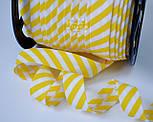 Косая бейка из хлопка с жёлтой полоской 5 мм , фото 5