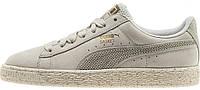Женские кроссовки Puma Sneaker Suede x Careaux (Пума замшевые) бежевые/белые