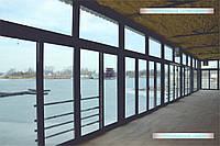 Панорамное остекление с раздвижными дверьми