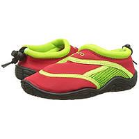 Тапочки для плавания и серфинга детские BECO красный/зелёный 92171 58