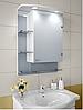 Шкаф зеркальный Garnitur.plus в ванную с LED подсветкой 8S