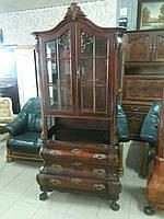 Старинный сервант-буфет (витрина) мебель из Европы б\у.  Италия.