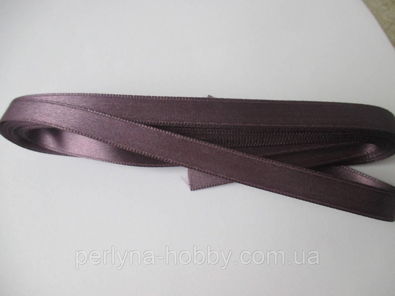 Стрічка атласна  двостороння 1 см. (10 метрів) сливовий пастельний Н 38