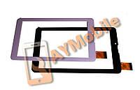 """Тачскрин (сенсор) 7"""" Exeom Mobility 70Qi 3G Dual Core 30 pins 184x104 mm скотч черный и белый"""
