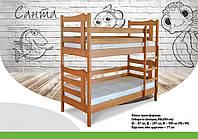 Ліжко дерев'яне двох ярусне Санта