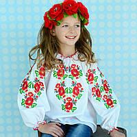 Оригинальная вышиванка для девочки 98 см - 152 см, фото 1