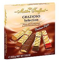 Шоколад Maitre Truffout Grazioso Австрия 200г (4 вкуса в одной упаковке ... амаретто, эспрессо,тирамису, капуч, фото 1