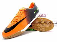 Футзалки Nike Mercurial\Найк Меркуриал, оранжево-черные, к11429