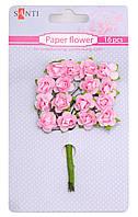 Набор цветов бумажных розовых, 15 шт